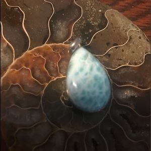Larimar pendant direct from DR #02